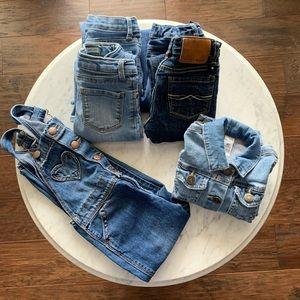 Lot of Girls 4T denim - Jeans Overalls Jacket